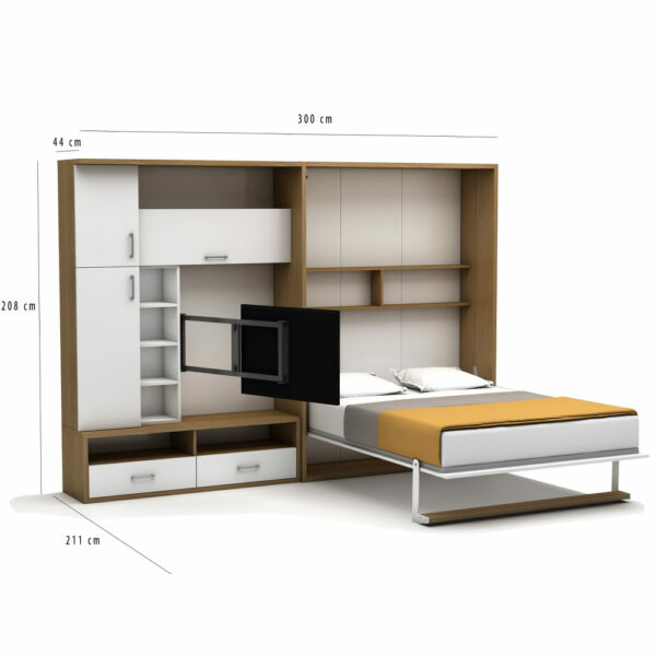 Double Saloon Wall Bed Dimensions
